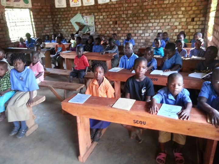 pupils taking on a lesson in the new class